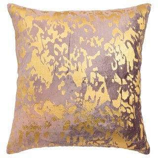 Blissliving Home Aya Purple and Metallic Print Cotton Decorative Pillow