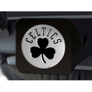 NBA Boston Celtics Black and Chrome Metal Hitch Cover