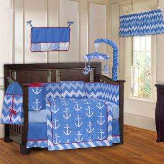 BabyFad Anchor Zigzag 10-piece Crib Bedding Set