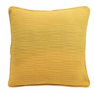 Blissliving Home Yasmine Yellow Cotton Textured Decorative Pillow