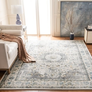 Safavieh Evoke Vintage Oriental Grey / Gold Distressed Rug (5' 1 x 7' 6)