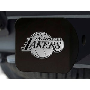 """NBA - Los Angeles Lakers Black Hitch Cover 4 1/2""""x3 3/8"""""""