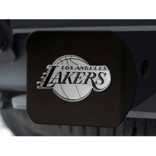 NBA Los Angeles Lakers Black and Chrome Metal Hitch Cover