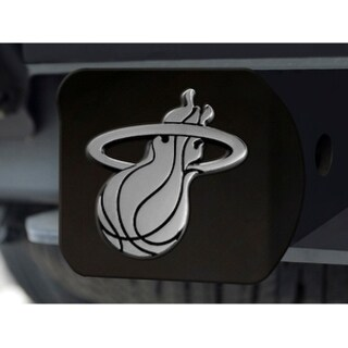 Fanmats NBA Miami Heat Black Metal and Chrome Hitch Cover