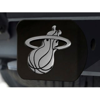 """NBA - Miami Heat Black Hitch Cover 4 1/2""""x3 3/8"""""""