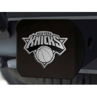 NBA New York Knicks Black Metal and Chrome Hitch Cover