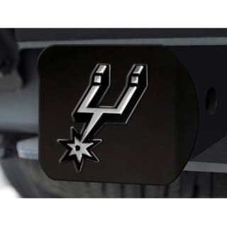 NBA San Antonio Spurs Black Chrome Hitch Cover
