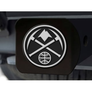NBA Denver Nuggets Black and Chrome Metal Hitch Cover