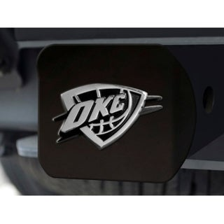 NBA Oklahoma City Thunder Black and Chrome Metal Hitch Cover