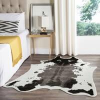 """Safavieh Faux Cow Hide Dark Grey Area Rug - 5' x 6'7"""""""