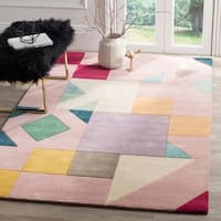 Safavieh Fifth Avenue Hand-Woven New Zealand Wool Pink / Multi Area Rug - 5' x 8'