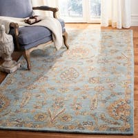 Safavieh Heritage Hand-Woven Wool / Cotton Light Blue / Multi Area Rug - 5' x 8'