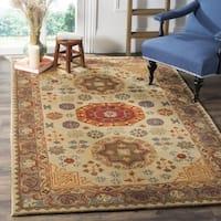 Safavieh Heritage Hand-Woven Wool Beige / Multi Area Rug (5' x 8') - 5' x 8'
