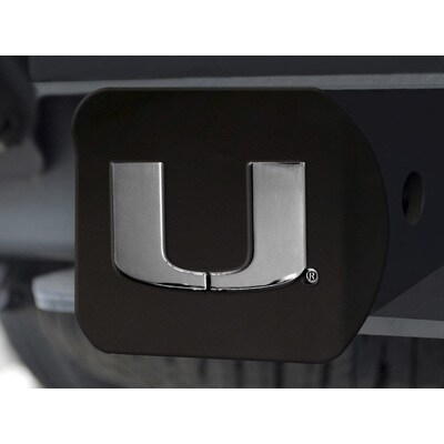 Miami Black and Chrome Metal Hitch Cover