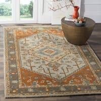 Safavieh Heritage Hand-Woven Wool Light Blue / Rust Area Rug (5' x 8') - 5' x 8'