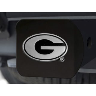 Georgia Black and Chrome Metal Hitch Cover