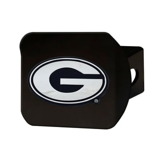 Georgia Black and Chrome Metal Hitch Cover