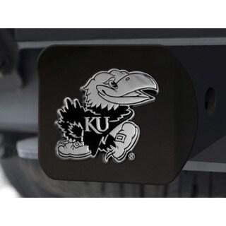 Fanmats Kansas Jayhawks Black Chrome 3-D Hitch Cover