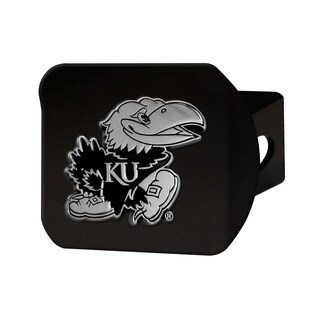 Fanmats Kansas Jayhawks Black Chrome 3-D Hitch Cover