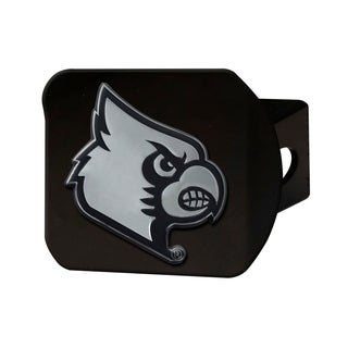 Fanmats Louisville Cardinals Black Chrome Hitch Cover