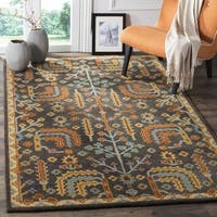 Safavieh Heritage Hand-Woven Wool Charcoal / Multi Area Rug (5' x 8') - 5' x 8'