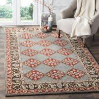 Safavieh Heritage Hand-Woven Wool Blue / Charcoal Area Rug (5' x 8') - 5' x 8'