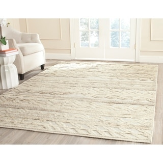 Safavieh Kenya Hand-Woven Wool / Cotton Ivory Area Rug (5' x 8')