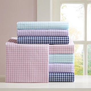Mi Zone Gingham Cotton Sheet Set