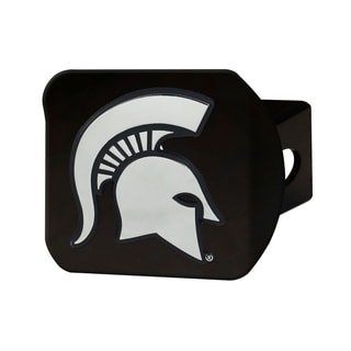 Fanmates Michigan State Black Metal Chrome Hitch Cover