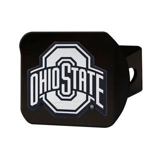 Ohio State Black Chrome Metal Type III Hitch Cover