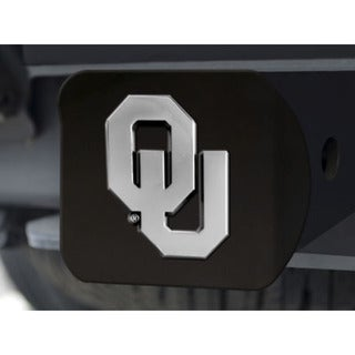 Fanmats Oklahoma Black and Chrome Metal Hitch Cover