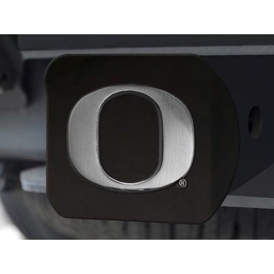 University of Oregon Black Chrome Metal Type III Hitch Cover