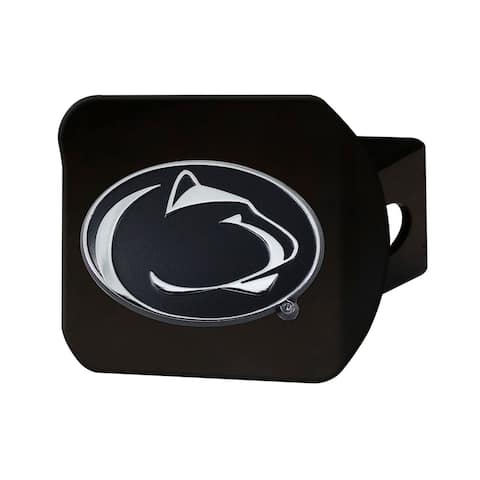 FANMATS Penn State Hitch Cover - Chrome on Black