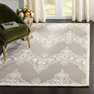 Safavieh Manchester Hand-Woven Wool Grey / Ivory Area Rug (5' x 8')
