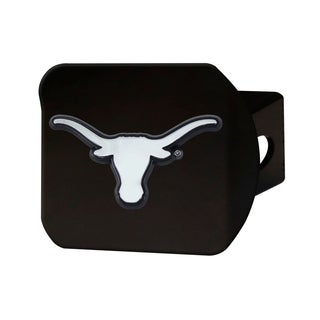 Texas Black and Chrome Metal Hitch Cover