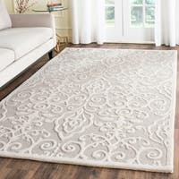 Martha Stewart by Safavieh Marais Whetstone Grey Wool Rug - 5' x 8'