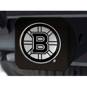 "NHL - Boston Bruins Black Hitch Cover 4 1/2""x3 3/8"""