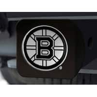 "NHL - Boston Bruins Black Hitch Cover 4 1/2""x3 3/8"""