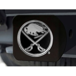 "NHL - Buffalo Sabres Black Hitch Cover 4 1/2""x3 3/8"""