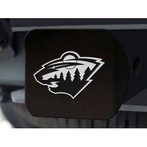 "NHL - Minnesota Wild Black Hitch Cover 4 1/2""x3 3/8"""