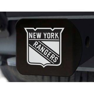 "NHL - New York Rangers Black Hitch Cover 4 1/2""x3 3/8"""