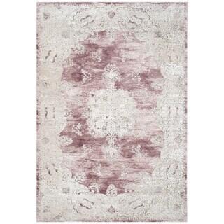 Safavieh Palermo Vintage Oriental Rose / Beige Viscose Rug (6' 7 x 9')