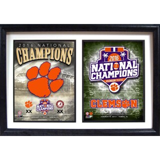 12x18 Double Frame - 2016 National Champions Clemson