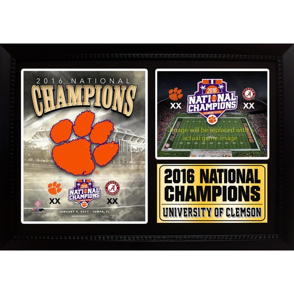 "2016 National Champions Clemson 12"" x 18"" Photo Stat Frame"