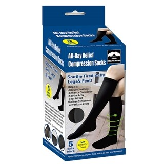Two Elephants All Day Relief Compression Socks (5 Pairs)|https://ak1.ostkcdn.com/images/products/14193870/P20790043.jpg?_ostk_perf_=percv&impolicy=medium