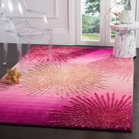 Safavieh SoHo Hand-Woven Wool Pink Area Rug - 6' x 9'