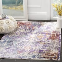 Safavieh Sutton Watercolor Lavender/ Ivory Area Rug - 5' x 7'