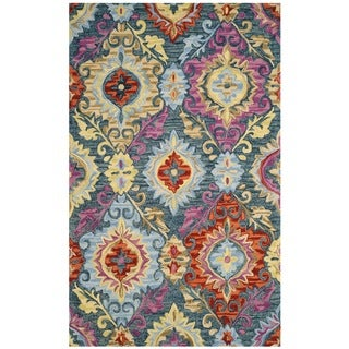 Safavieh Suzani Hand-Woven Wool Blue / Multi Area Rug (5' x 8')