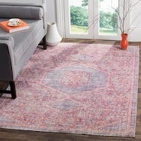 Safavieh Windsor Lavender/ Pink Distressed Silky Polyester Area Rug - 5' x 7'