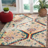 Safavieh Watercolor Light Yellow / Blue Area Rug - 5'3 x 7'6